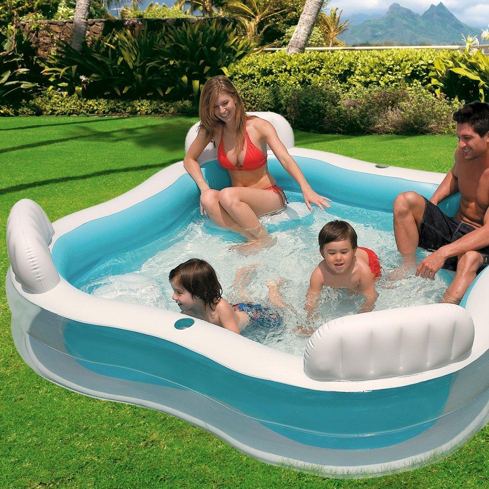 Intex 56475 piscina gonfiabile con 4 sedili opinioni e for Piscine gonfiabili per bambini